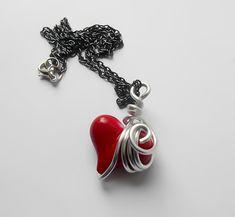SALE Heart Necklace Steampunk Heart Necklace by KingsfieldInn