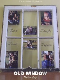 old windows ~ picture frame