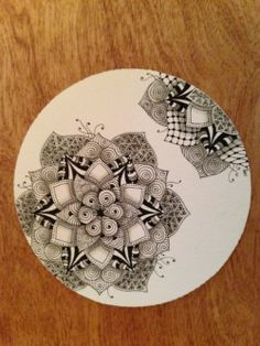 Tangled Up In Art: One Zentangle a Day - Day 34 PLUS the Diva Star Challenge