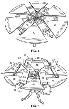 US7464653B2 - Expansible table - Google Patents