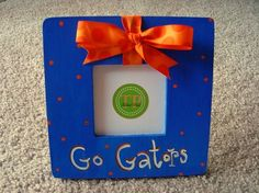 Go Gators! University of Florida, orange & blue. 