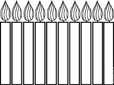 Black and White Birthday Candles