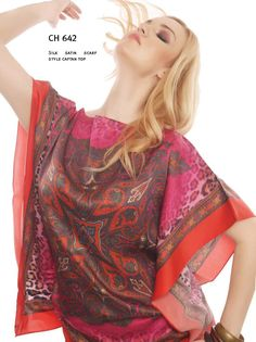 CH 642 Silk Satin Scarf Style Caftan Top  We provide you with #Made-to-Measure #M2M & #Ready-to-Wear #RTW at #CHANGE! If you like a print and a separate #design, don't worry we can customize them for you.  To order inbox us or call or whatsapp us @ +919051610273. We also deliver all over india. Courier charges as applicable. Effortless dressing at its best, CHANGE!