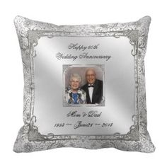 60 Hochzeits Jahrestag Fotokissen #Dekokissen #Kissen #Zierkissen #DekokissenART