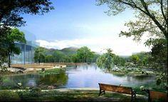 Garden landscaping, garden design, Park, ecological gardens, City Park, leisure garden 3D renderings.