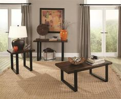 Shop Coaster Furniture Brown Black Wood Coffee Table Set with great price, The Classy Home Furniture has the best selection of Coffee Table sets to choose from Black Coffee Table Sets, Black Sofa Table, Mahogany Coffee Table, 3 Piece Coffee Table Set, Home Coffee Tables, Sofa End Tables, Brown Coffee, Occasional Tables, Nevada