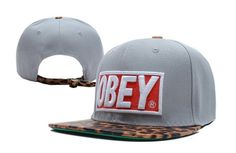 Obey Grey Cheetah Snapback