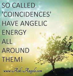 "^♥^ ☫ ^i^ Ꭿɲɠҽℓʂ ^i^ ☫ ^♥^ ~ So called ""coincidences"" have angelic energy all around them..."