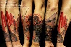 War soldier trash polka style , Design / tattoo by Pit Fun www.facebook.com/pitfunfun