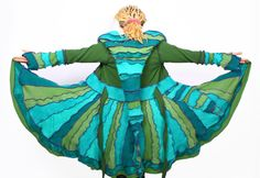 Elf Coat Pattern   Free pattern how to make a coat from felted vintage sweaters jumpers  