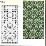 Punch cards for Brother knitting machines Singer/Silver with beautiful drawings. Knitting Machine Patterns, Fair Isle Knitting Patterns, Fair Isle Pattern, Knitting Charts, Knitting Designs, Knitting Stitches, Knitting Projects, Hand Knitting, Punto Red Crochet