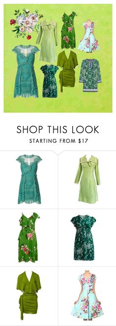 """Green spring dreaming"" by yanica68 on Polyvore featuring Three Floor, Geoffrey Beene, River Island, jon & anna, Jean-Paul Gaultier, Jolie Moi, Missoni, GREEN and plus size dresses"