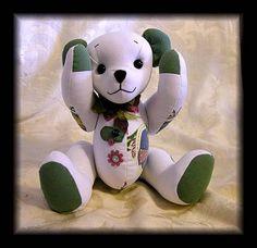 Handmade memory teddy bears from special clothing byTammyBears. www.HandmadeMemoryBears.com
