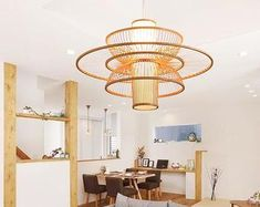 Natural design just for natural life. by WalmHomie on Etsy Rattan Light Fixture, Rattan Pendant Light, Rustic Chandelier, Chandelier Lamp, Pendant Lamp, Light Fixtures, Michigan, Light Beam, Wood Beams