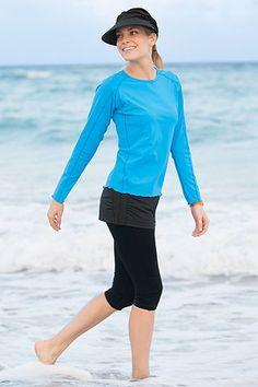 Skirted Swim Legging: Sun Protective Clothing - Coolibar