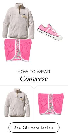 """""""Lazy Day"""" by aimeegeorge on Polyvore featuring Converse and Patagonia"""