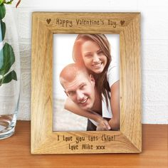 This 'Happy Valentines day' frame is a special way to show your love to your other half.