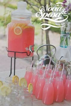 Romantic Pink Drinks for Engagement Party. Fill the large sized glass jar with p.-Romantic Pink Drinks for Engagement Party. Fill the large sized glass jar with p… Romantic Pink Drinks for Engagement Party. Summer Bridal Showers, Tea Party Bridal Shower, Bridal Shower Foods, Bridal Shower Ideas Spring, Backyard Bridal Showers, Tea Party Wedding, Themed Bridal Showers, Baby Shower Foods, Wedding Table