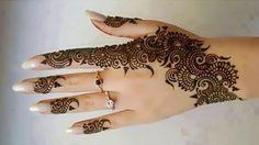Beautiful Simple Arabic Hand Henna Design