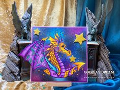 "Take a look at ""Guardian of the Stars"", a handmade birthday card by Godiva's Dream - a UK based luxury papercraft designer specialising in handmade cards. Dark Galaxy, Galaxy Background, Handmade Birthday Cards, Handmade Cards, Ink Stamps, Card Maker, I Card, Galaxies, Paper Crafts"