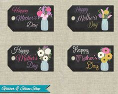 Printable MOTHERS DAY TAGS  Mother's Day by GlitterAndShineShop, $4.00