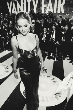Jennifer Lawrence at the Vanity Fair party - i love this girl!