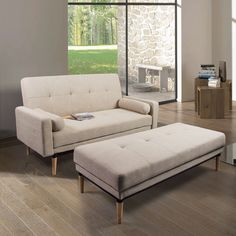 This classy sofa bed and bench combination is ideal for friends or family staying over. Crafted with quality materials, this sofa bed and bench combination is both durable and stylish.