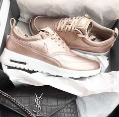 pretty nice 1f768 0f47e  be impassioned ✨ boyfriends getting me these for my birthday Gold Trainers,  Shoes Trainers Nike