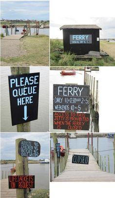 Via @Kat Ellis Farley : Hand painted Walberswick Ferry signs