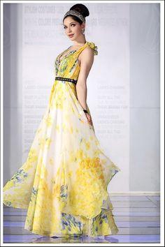 シフォンプリントロングドレス♪  - ロングドレス・パーティードレスはGN|演奏会や結婚式に大活躍!