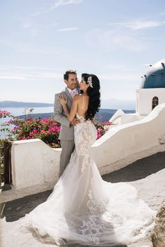 """Dr. Paul Nassif performed """"Always Remember Us This Way"""" for his bride Brittany Pattakos at their blessing and reception ceremony in Santorino on Sunday."""