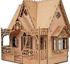 The Diana House - One Inch Dollhouse Kit