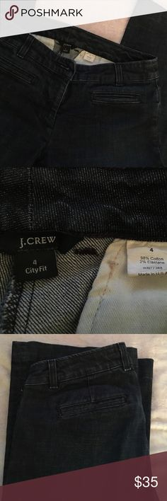 "J crew city fit jeans size 4 Like brand new jeans. No wear at all. Straight front and back pockets. Size 4. Waist 14.5"" / inseam 30"" J. Crew Jeans"