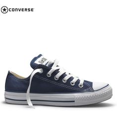 Womens Converse All STAR Canvas Shoes Ox Low Trainers - Navy Blue ($53) ❤ liked on Polyvore featuring shoes, sneakers, navy blue, converse footwear, converse sneakers, canvas shoes, low sneakers and converse trainers