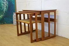 Mid Century Retro Danish Cfc Silkeborg Johannes Andersen Rosewood Nest Of Tables | Vinterior London  #design