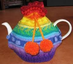 This is just the cutest colourful tea cosy #tea #teacosy #teapot #teatime