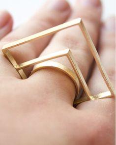 Geo Deco Ring // love this! #jewelry_design