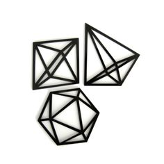 Our famous himmeli mobiles were the inspiration for these gorgeous geometric himmeli coasters! 3 different designs. Colour Black Lead time 2 weeks until dispatch.