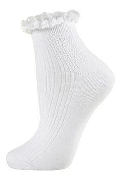 Lace Trim Ankle Socks, Topshop