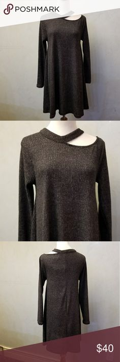 NWT grey sweater dress Brand new with tags grey sweater dress Cotton Emporium Dresses Midi