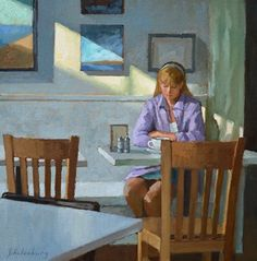 Awesome Paul Schulenburg Coffee Corner oil on canvas x in