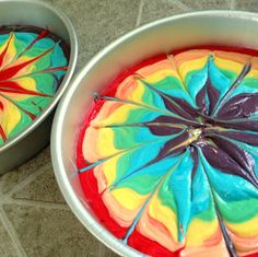 Rainbow Tie-Dye Layer Cake