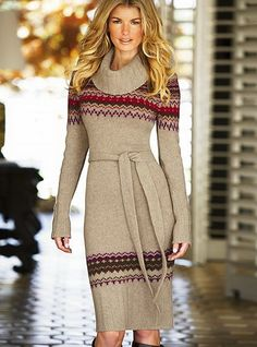 Winter dresses are on fashion trends every year. There are only some tips to regard as when you choosing winter dresses. You should select a dress that is Knit Dress, Dress Skirt, Dress Up, Jumper Dress, Winter Stil, Winter Dresses, Dress Winter, Autumn Winter Fashion, Fall Winter