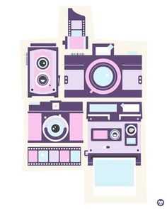 Cameras - Canvas Wall Art by Neil J. Rook. 24x30, $159. Available framed in deep pewter or warm white!
