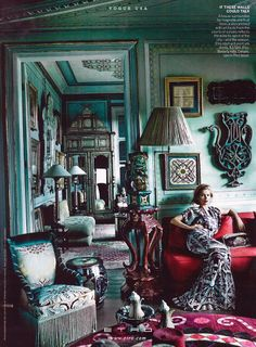 Kate Moss in Etro for Vogue USA December 2013 by Mario Testino