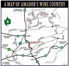 Image Result For Amador Wineries Map