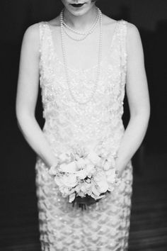 Original vintage 1920s style short beaded wedding dress (from the 1960s) from www.glorydaysvintage.co.uk