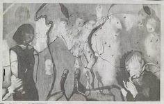 Christian Holstad  A Sacrifice on a Volcano - 2004  pencil on newspaper  16.5 x 26.5 cm