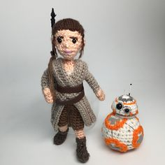 Ravelry: Rey Star Wars Force Awakens Amigurumi with BB-8 pattern by Allison Hoffman
