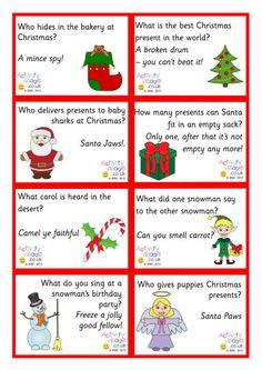Christmas lunch box or advent calendar jokes